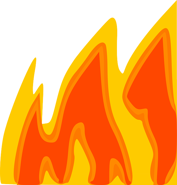 Fire border panda free. Hot clipart flame