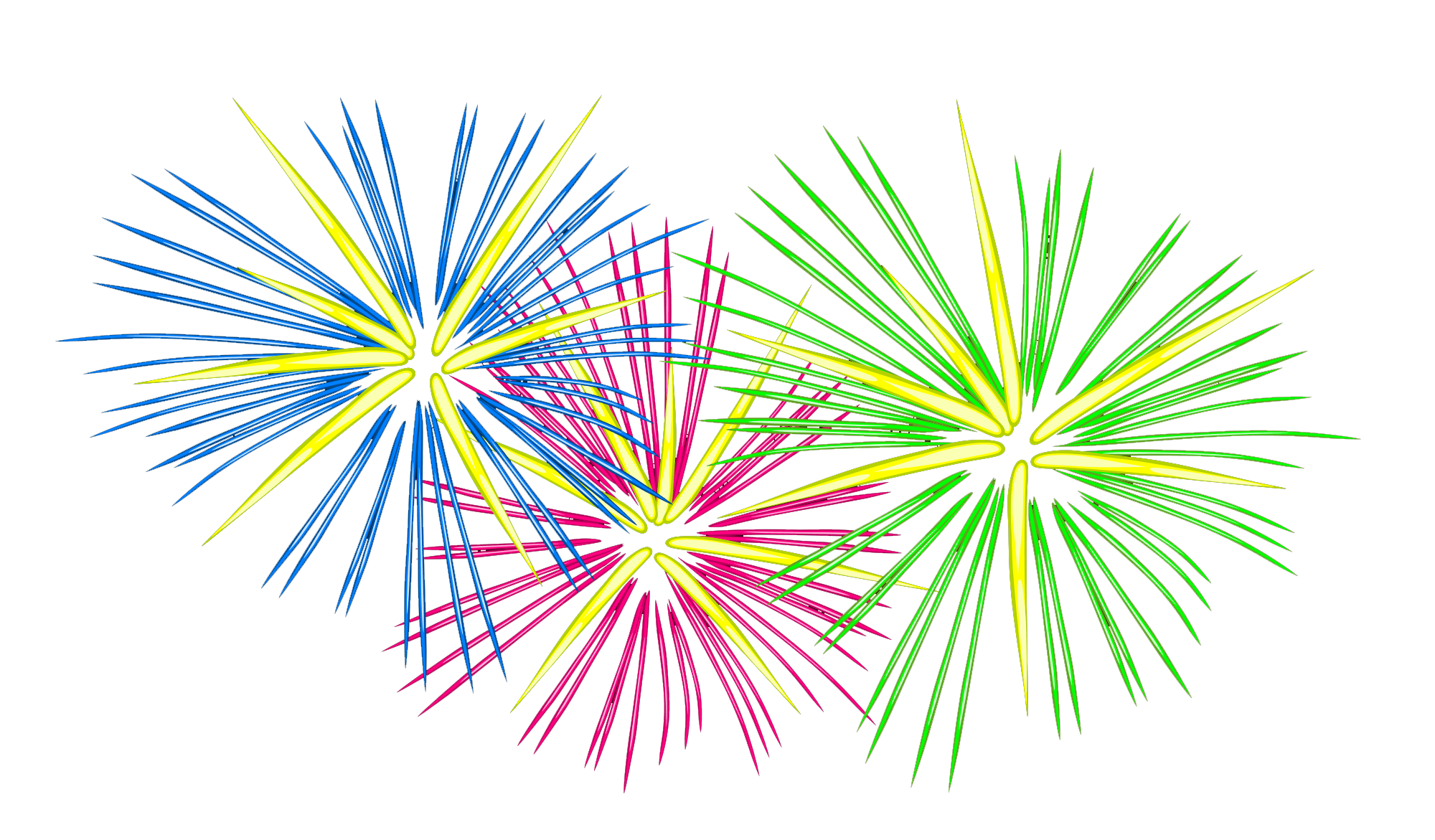 Bonfire night new year. Firework clipart party