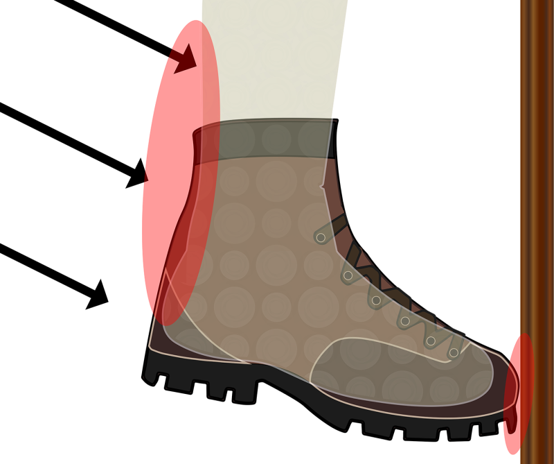 hike clipart boot tracks