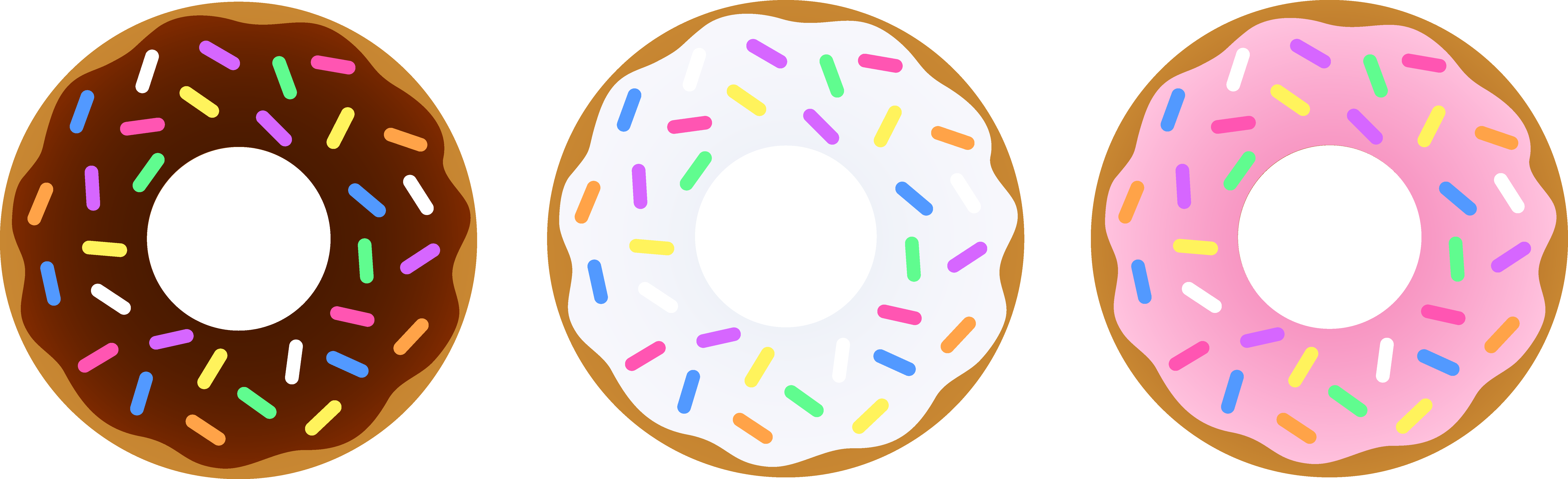 Strawberries clipart frosted donut. Clip art with sprinkles