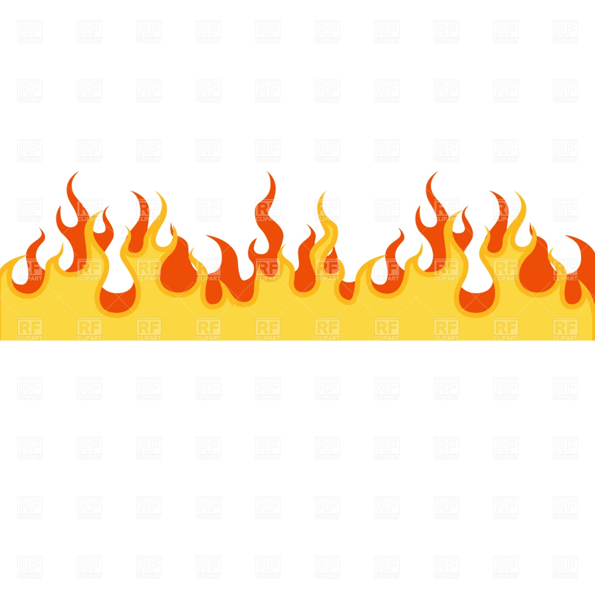Fire border station . Flames clipart file