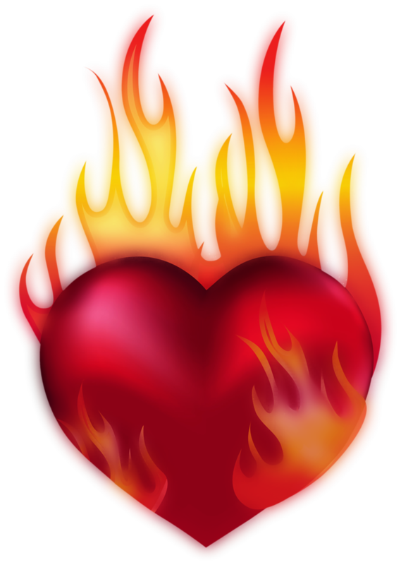 Coeur tube png i. Fire clipart love
