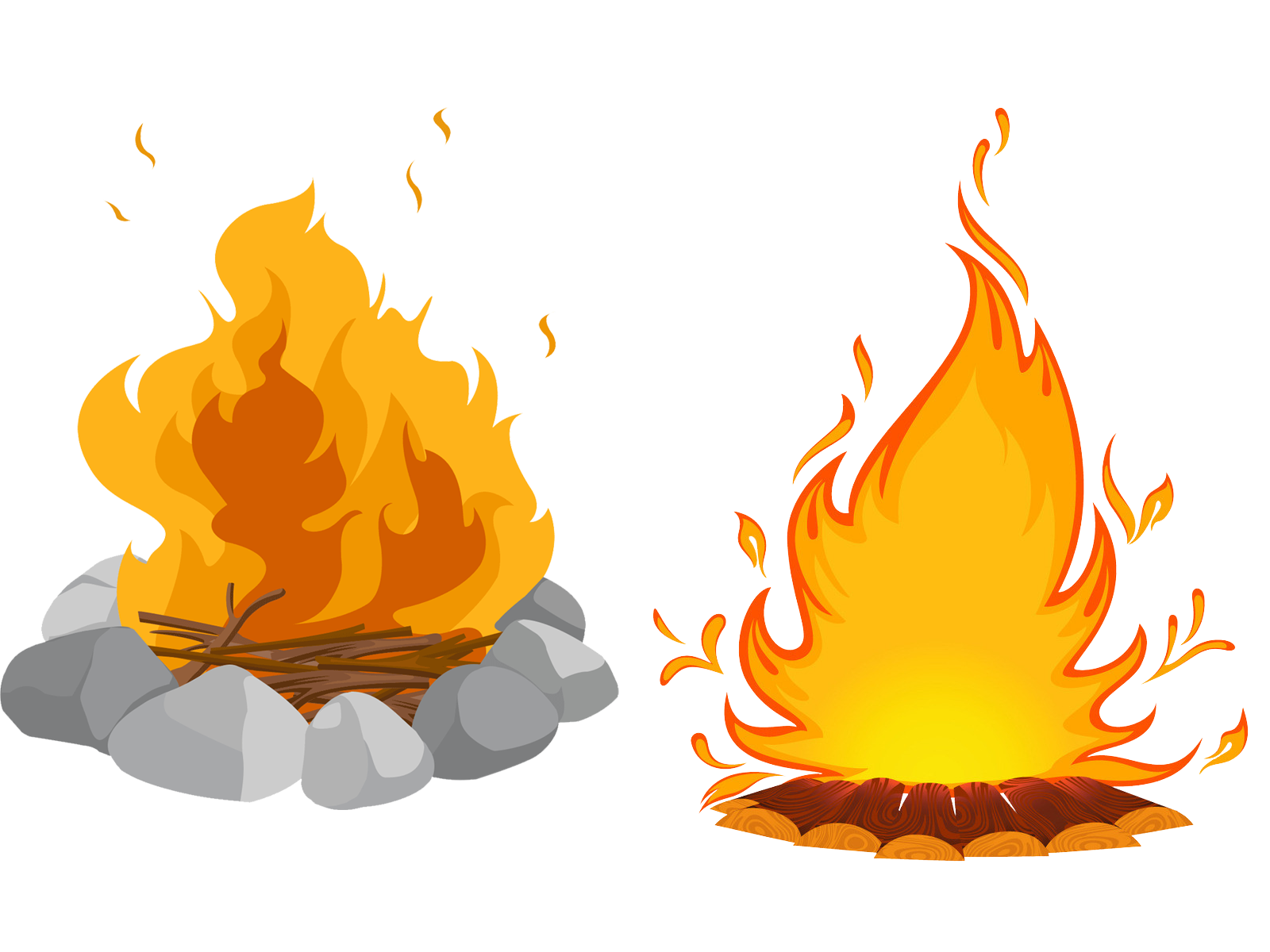 Fries clipart uses heat. Bonfire campfire clip art