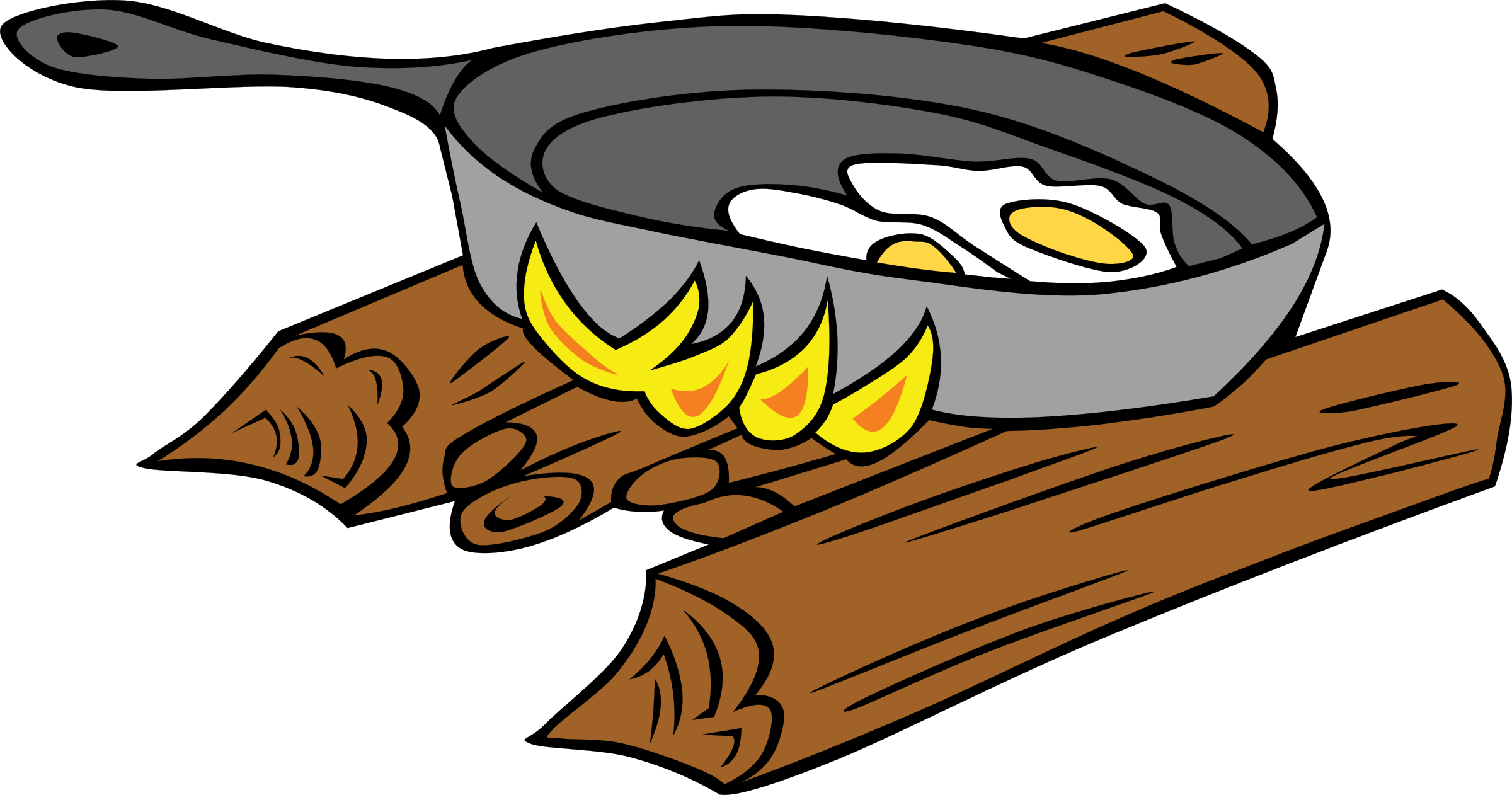 Clipart - Campfires and cooking cranes