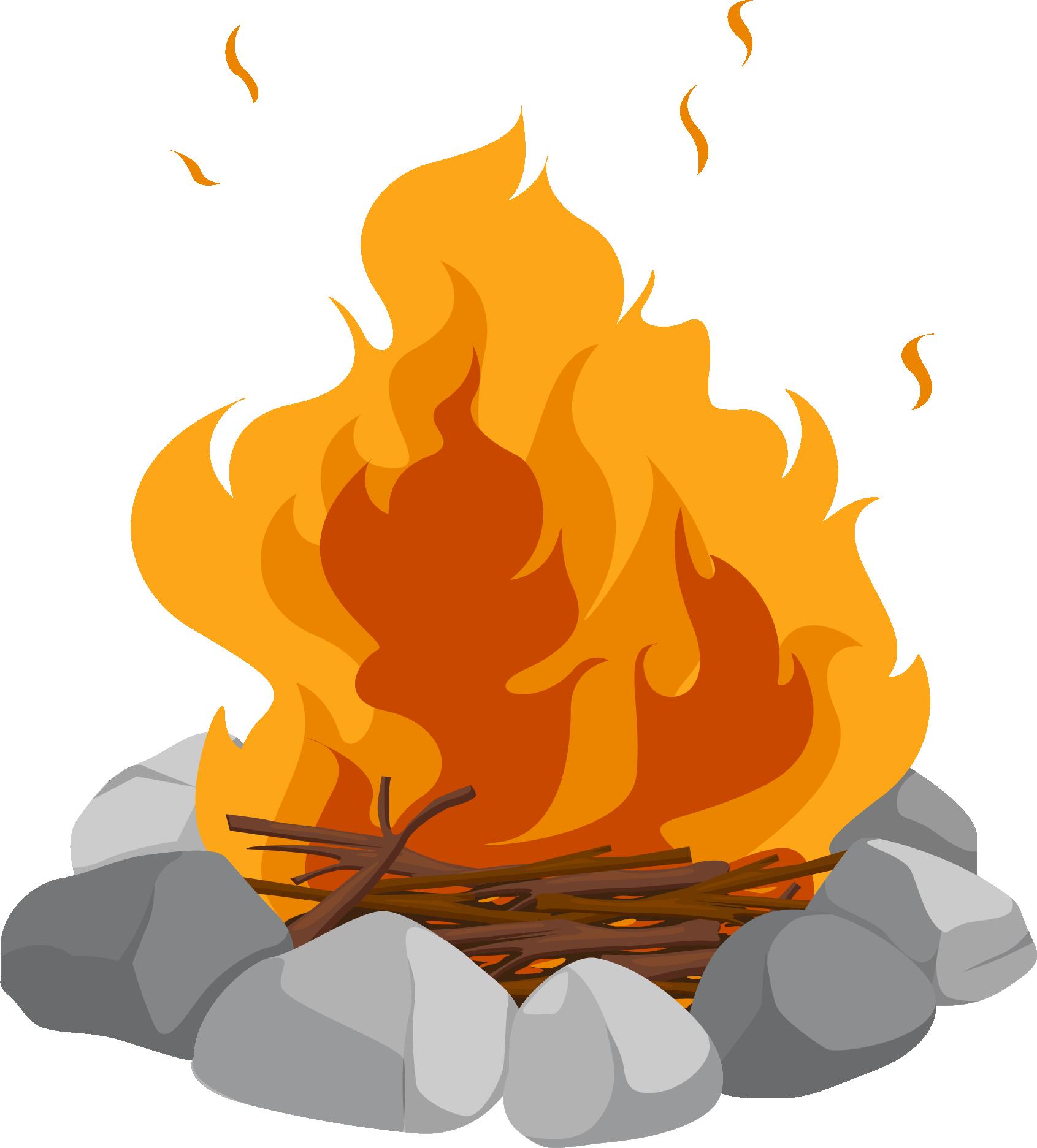 Clipart fire campfire. Cartoon bonfire clip art