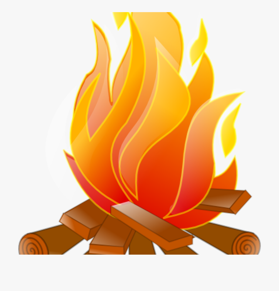 Log clipart campfire. Fire clip art no