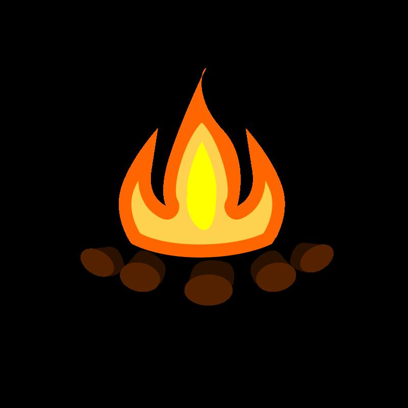 Fire clipart campfire. Camp medium image png