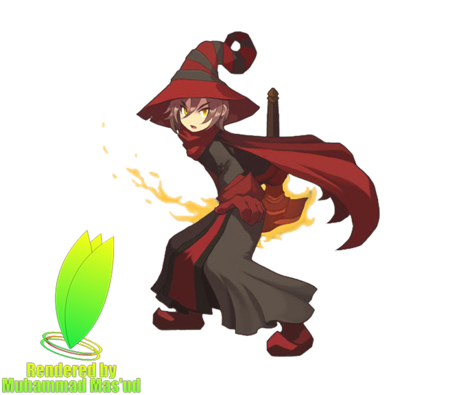 Fire clipart character. Mage male lost saga