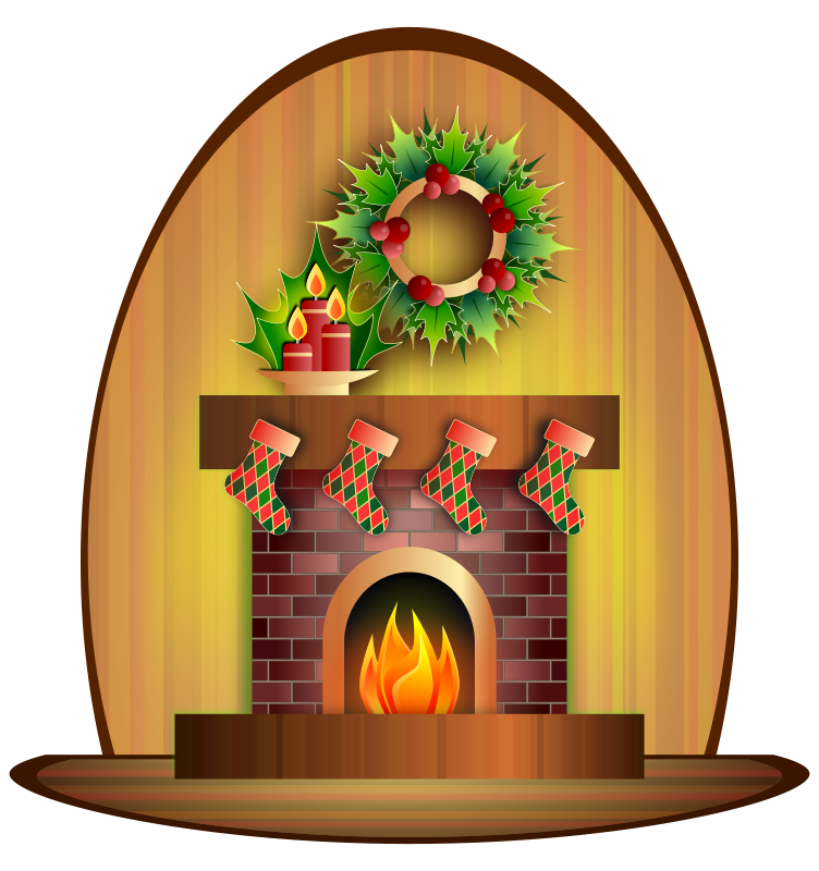 fireplace clipart indoor