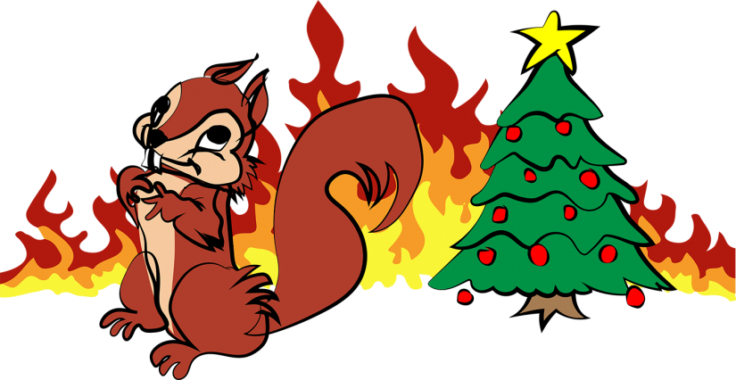 Pippa s four festive. Clipart fire christmas tree