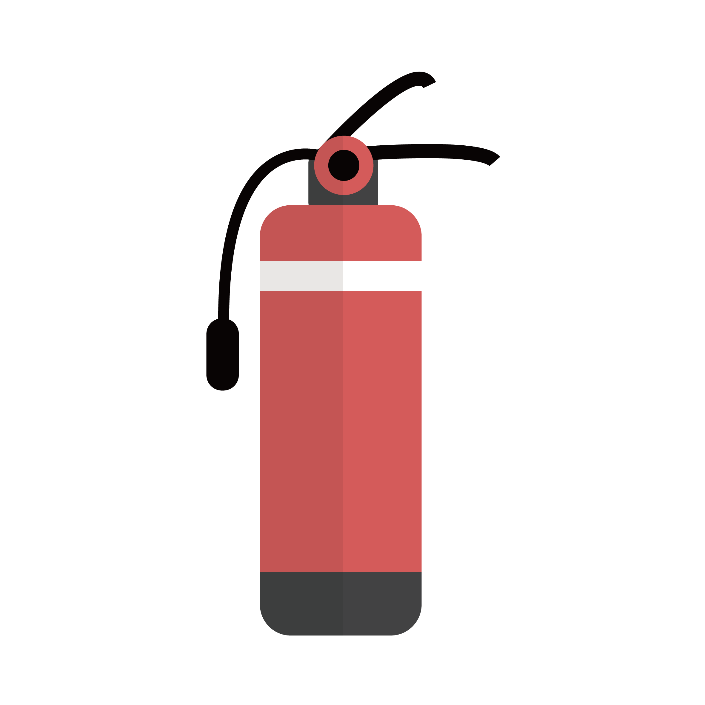 Extinguisher firefighting. Clipart fire conflagration