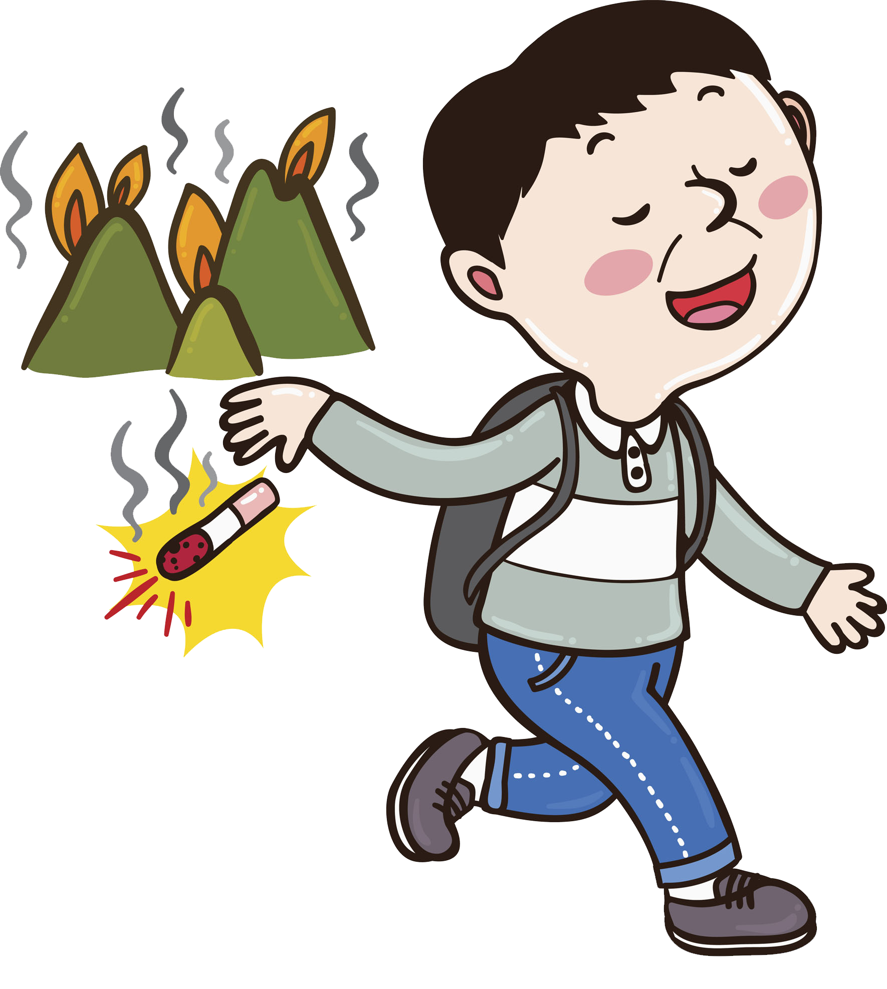 Burilla combustion the man. Clipart fire conflagration