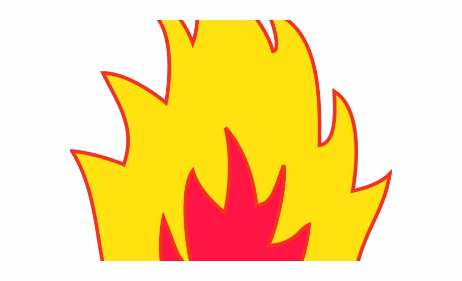 Clipart fire conflagration. Transparent background