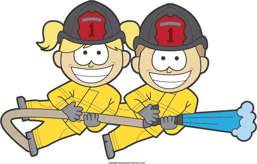 Fire safety click to. Firefighter clipart water