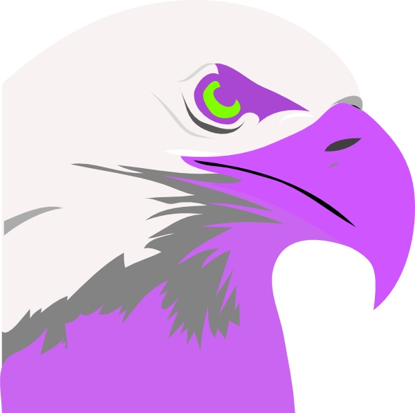 Purple clip art at. Eagle clipart feather