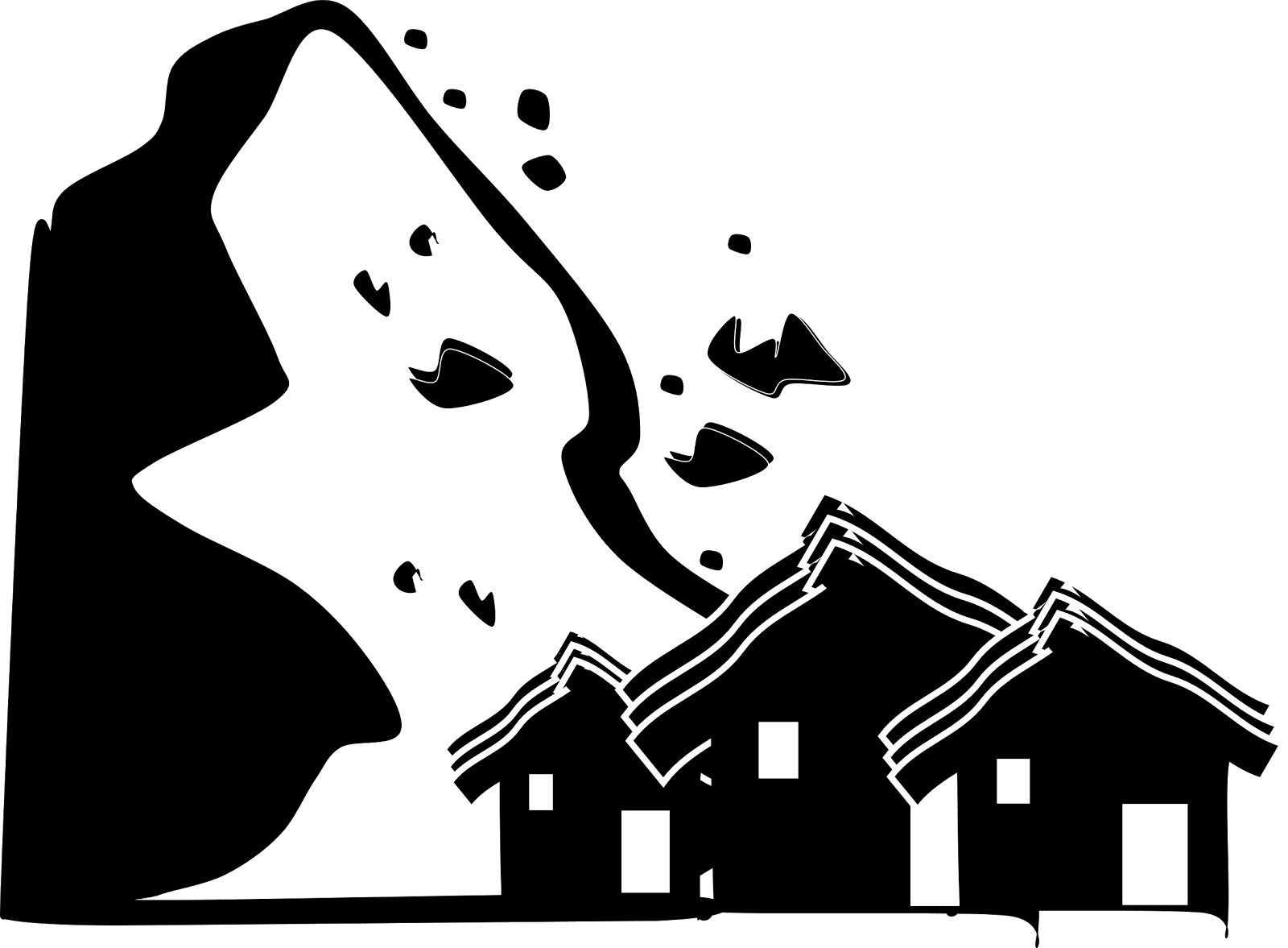 Earthquake clipart collapsed building.  collection of black