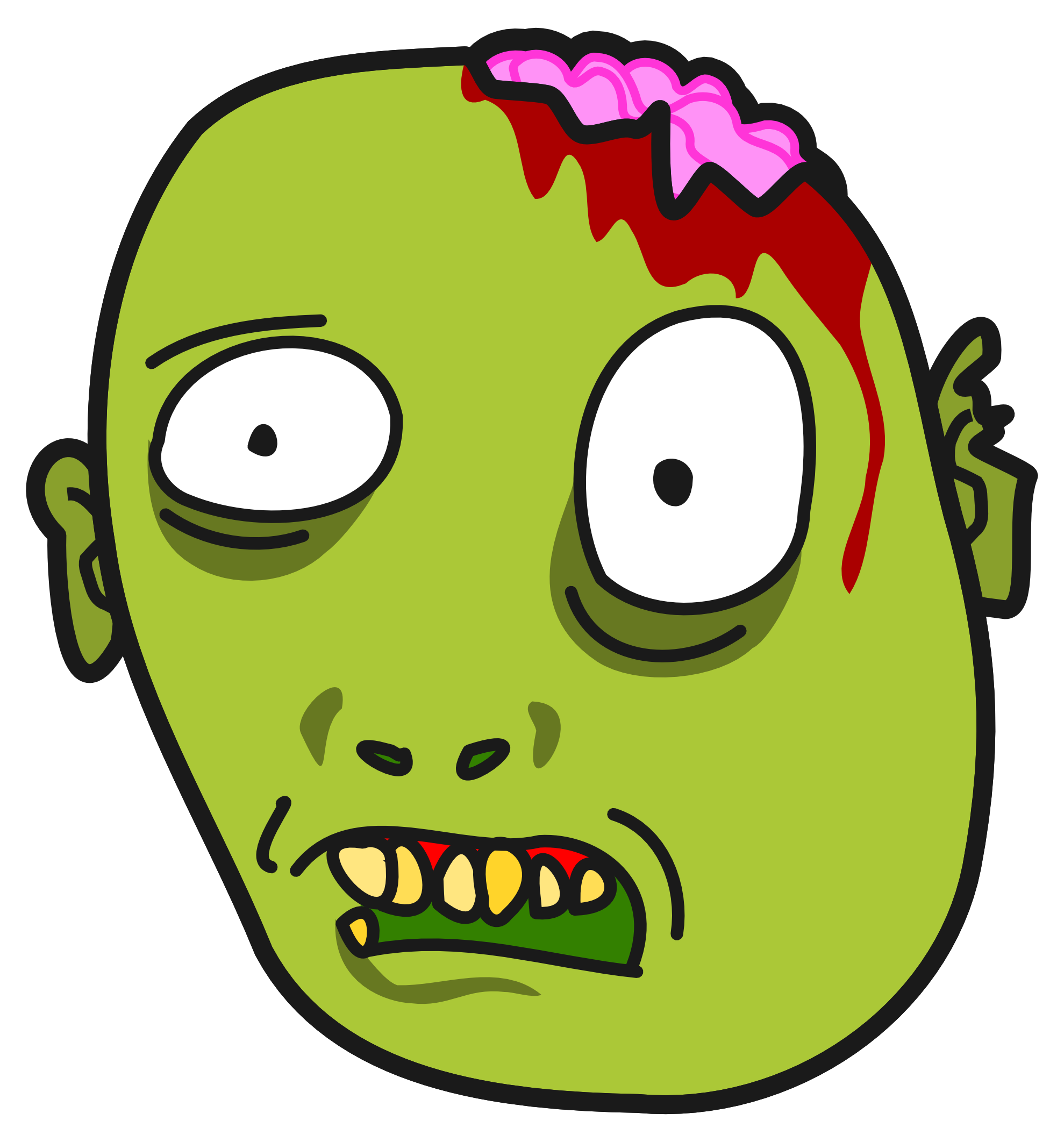 collection of face. Zombie clipart cartoon baby