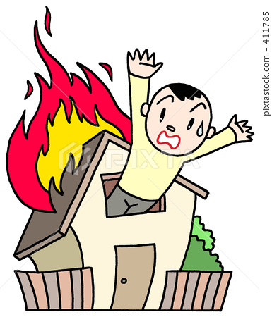 And stock illustration pixta. Clipart fire fire accident