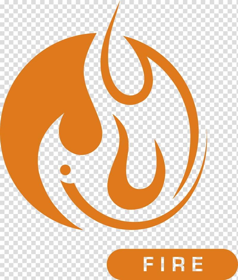 Fire clipart fire element. Orange logo symbol classical