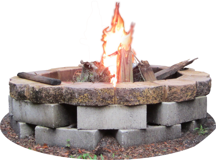 Choose the right fire. Heat clipart firepit