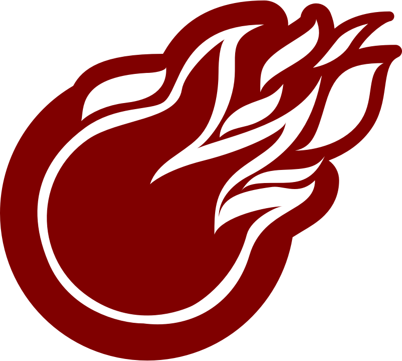 Fire silhouette medium image. Comet clipart flame ball