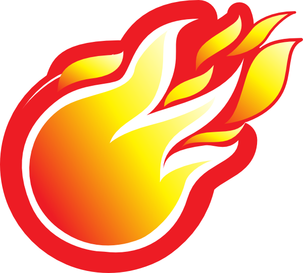 Fireplace clipart animated. Fireball clip art at
