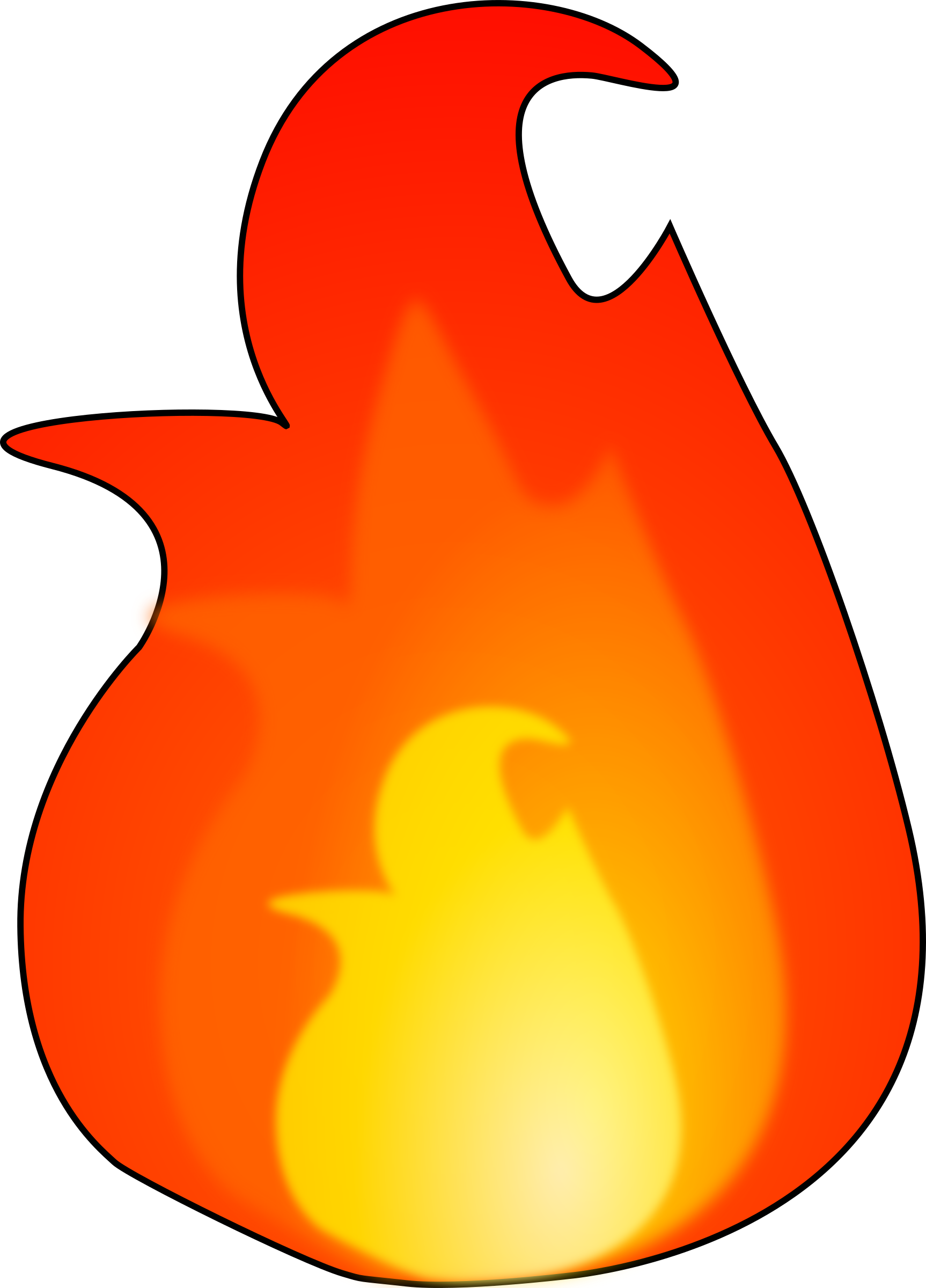Clipart flames pdf. Another fire flame big