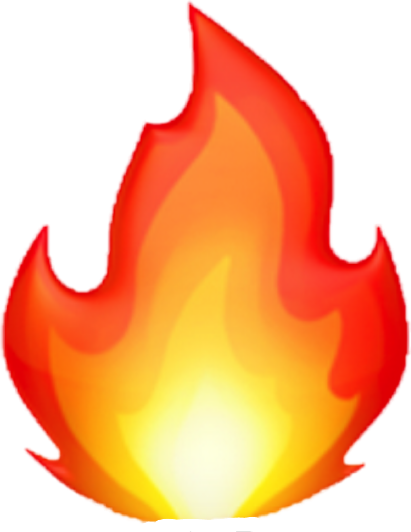 Emoji sticker by juliadek. Clipart fire flame