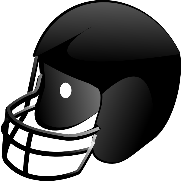 Clip art at clker. Black football helmet png