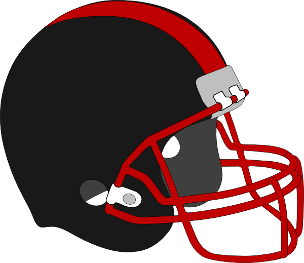 Red and black clip. Georgia clipart football helmet