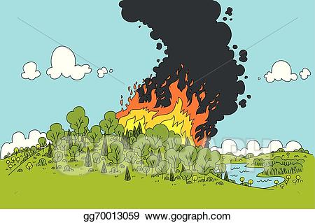 Eps illustration vector gg. Clipart fire forest fire