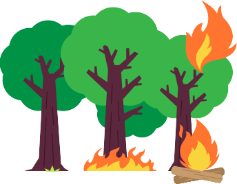 Clipart fire forest fire. And wildfire guide what