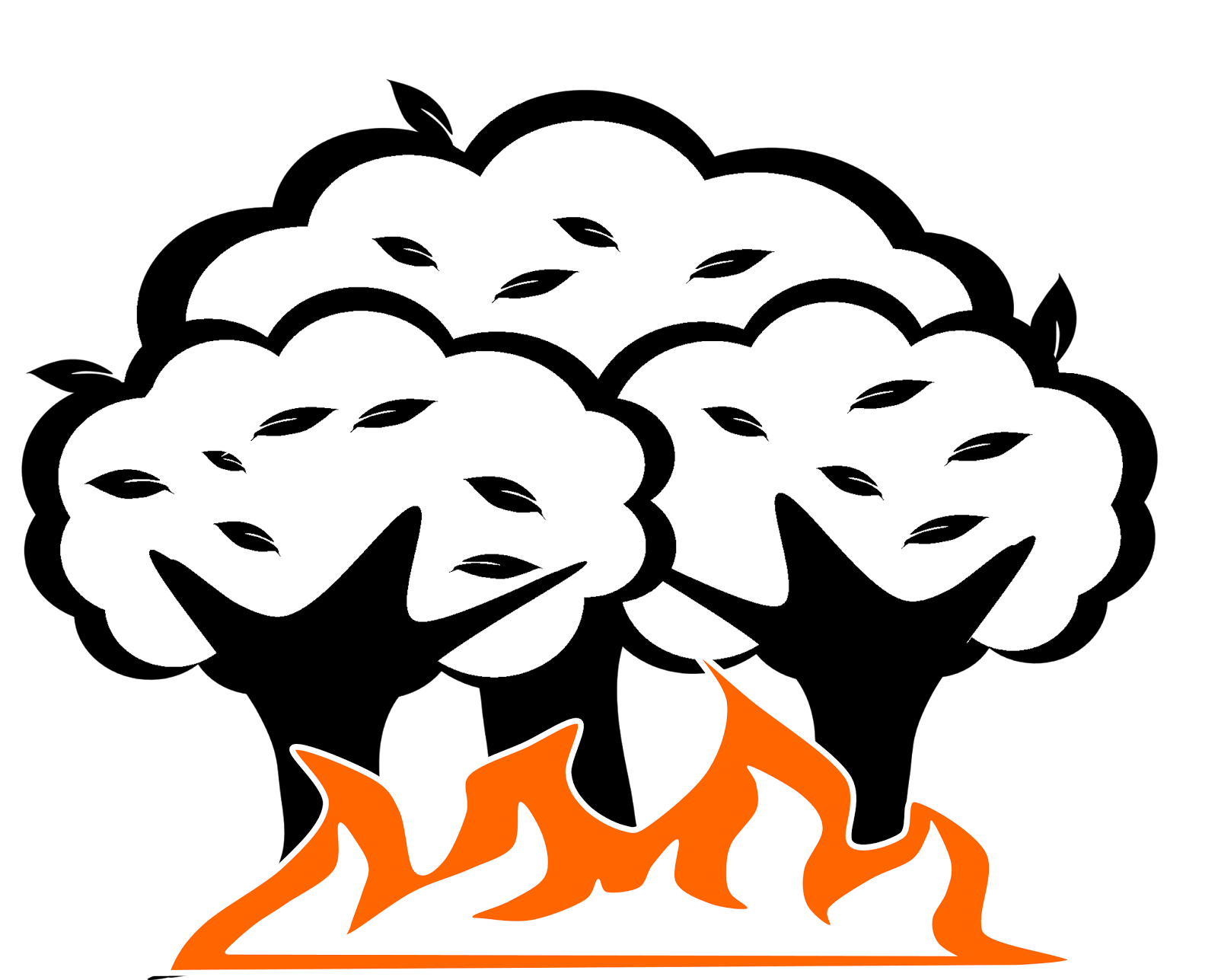 collection of drawing. Clipart fire forest fire