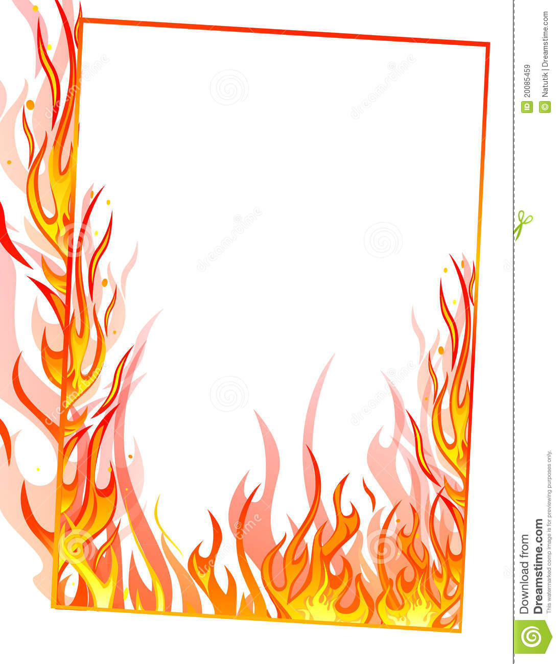Fire clipart frame. Border free download best