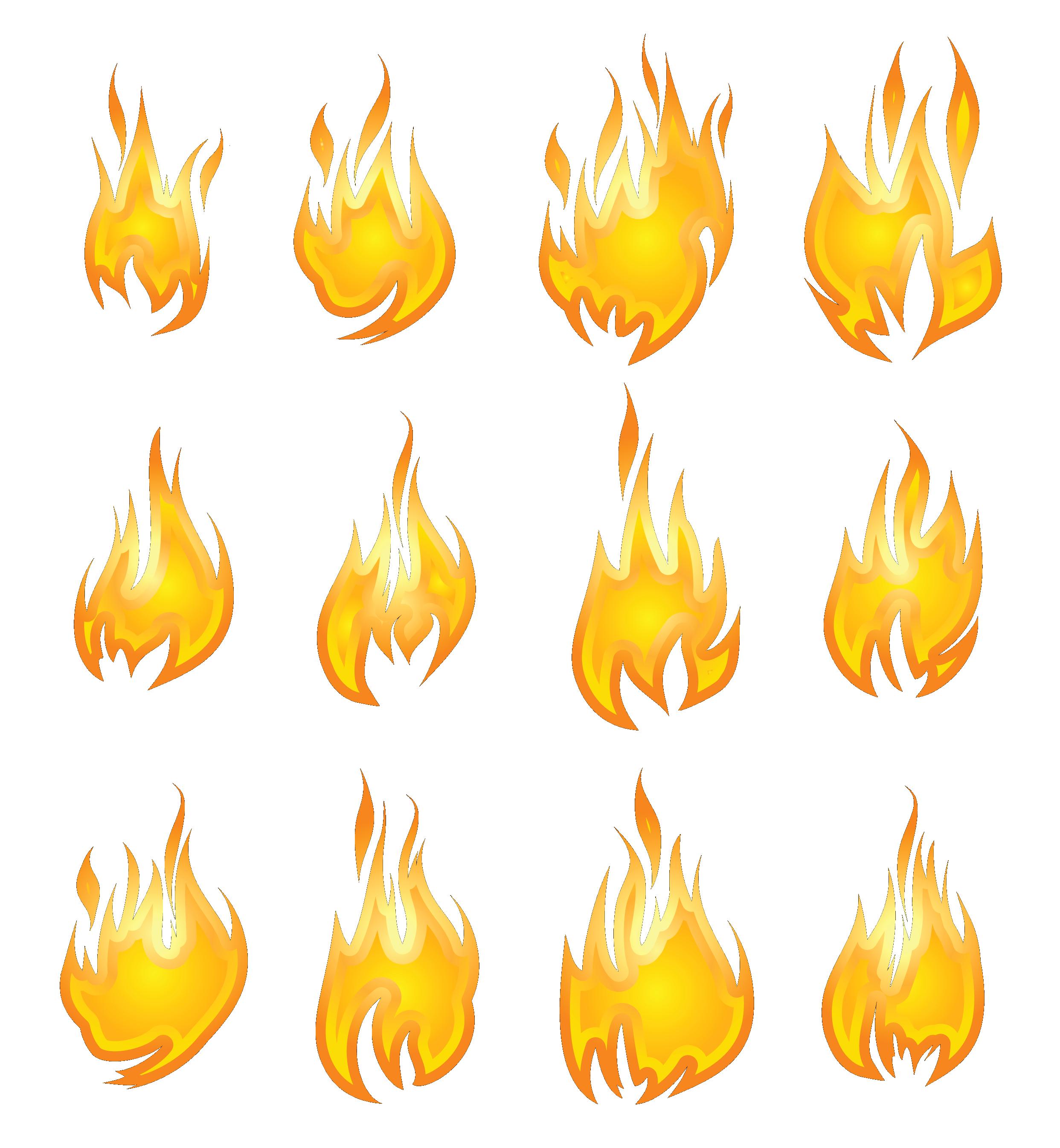 Transparent set png gallery. Flames clipart fire flower