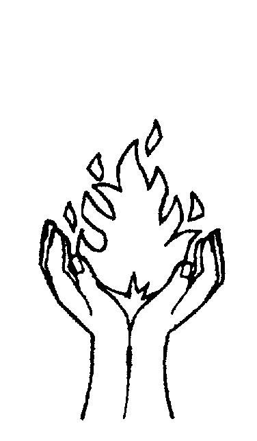 On clip art library. Fire clipart hand