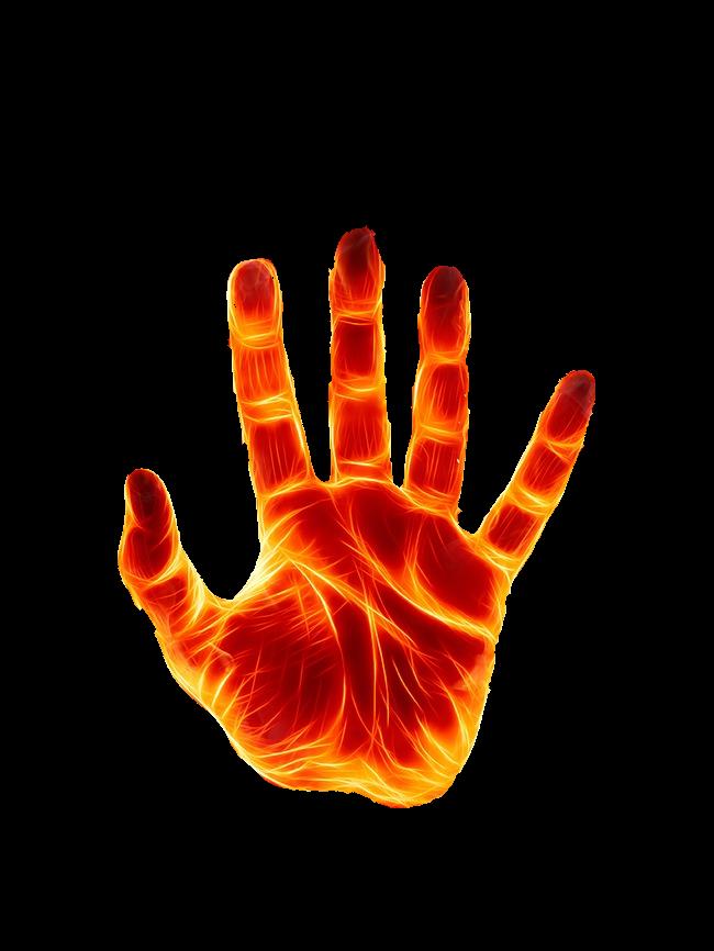 Firehand free sticker report. Fire clipart hand