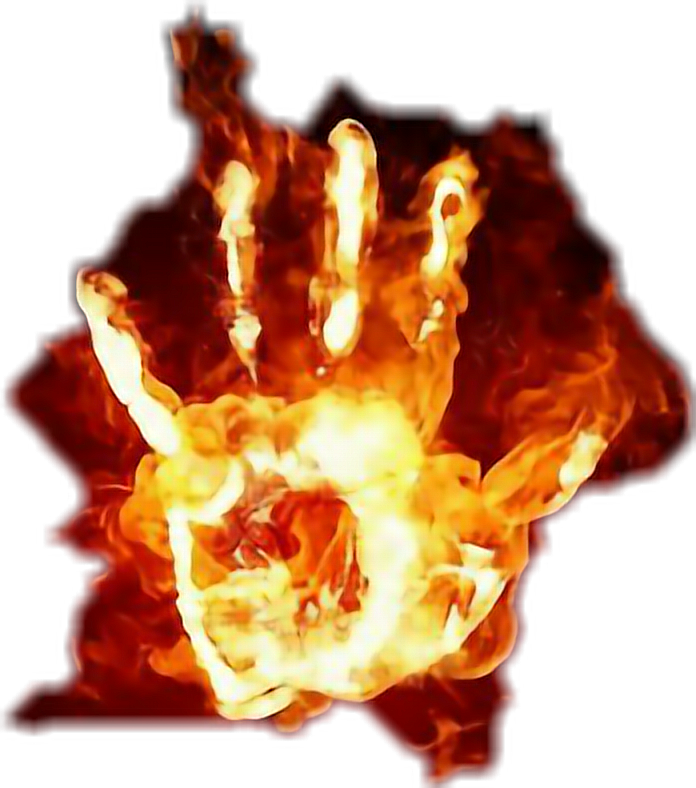 Fire clipart hand. Flame sticker by brandy