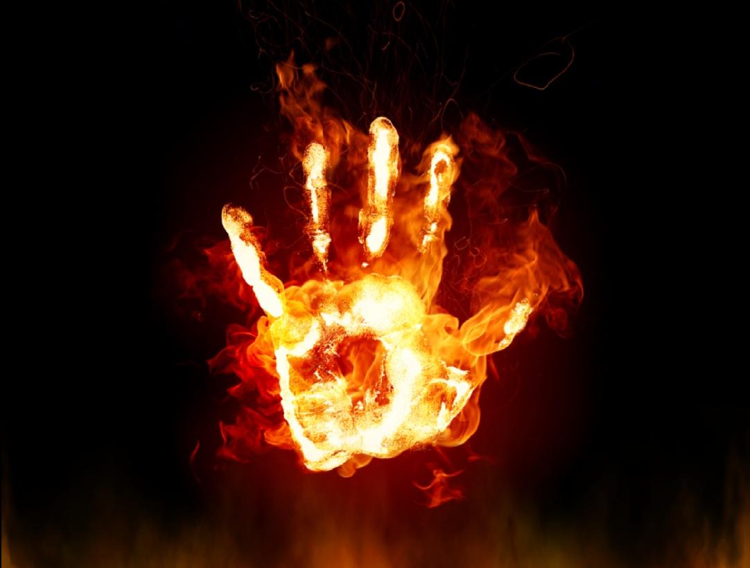 Clip art library . Fire clipart hand