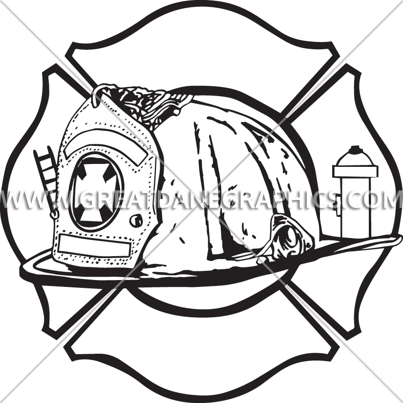 Fire helmet drawing at. Fireman clipart draw