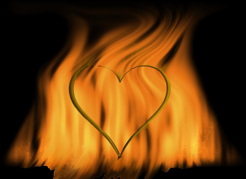 Psd official psds share. Clipart heart fire