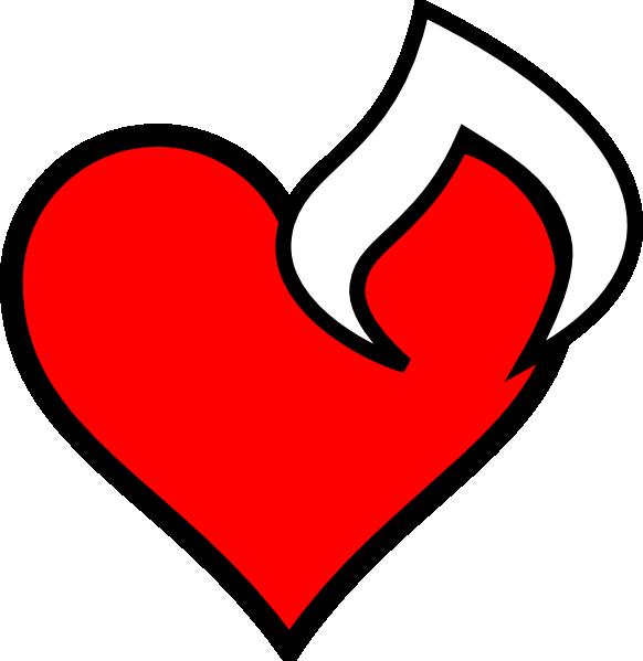 Hearts clipart fire. Heartfire clip art at