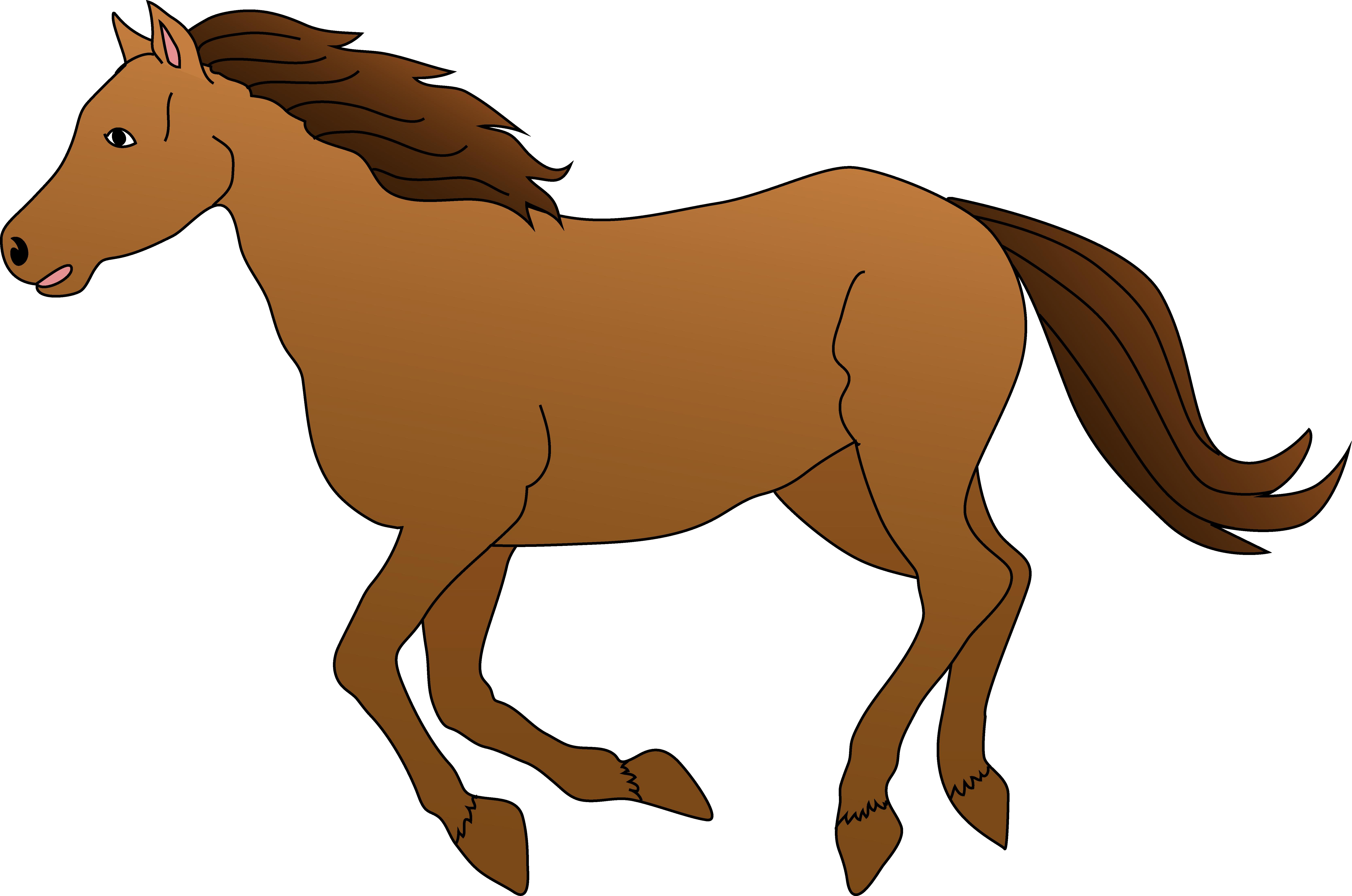 clipart horse fire