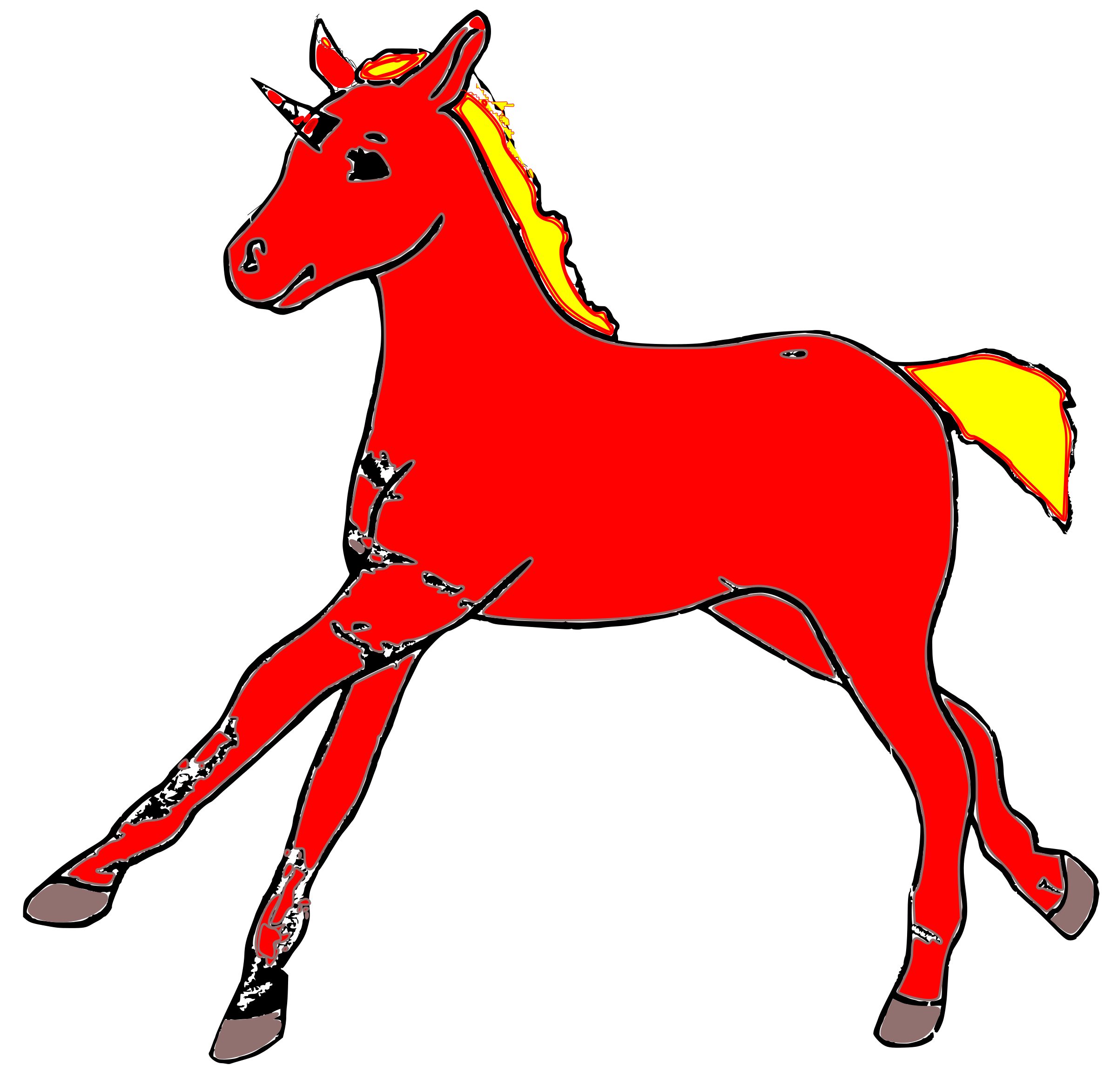 Clipart fire horse. Firehorse foal big image