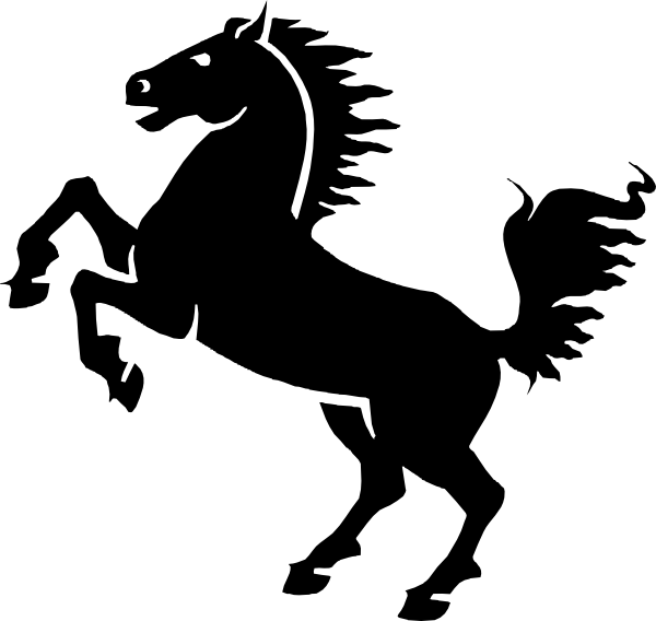 Clipart horse simple. Black clip art at