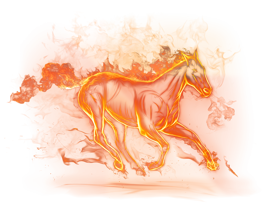 Horse clipart fire. Beautiful png picture gallery
