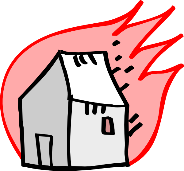 Burning clip art at. Clipart fire house fire