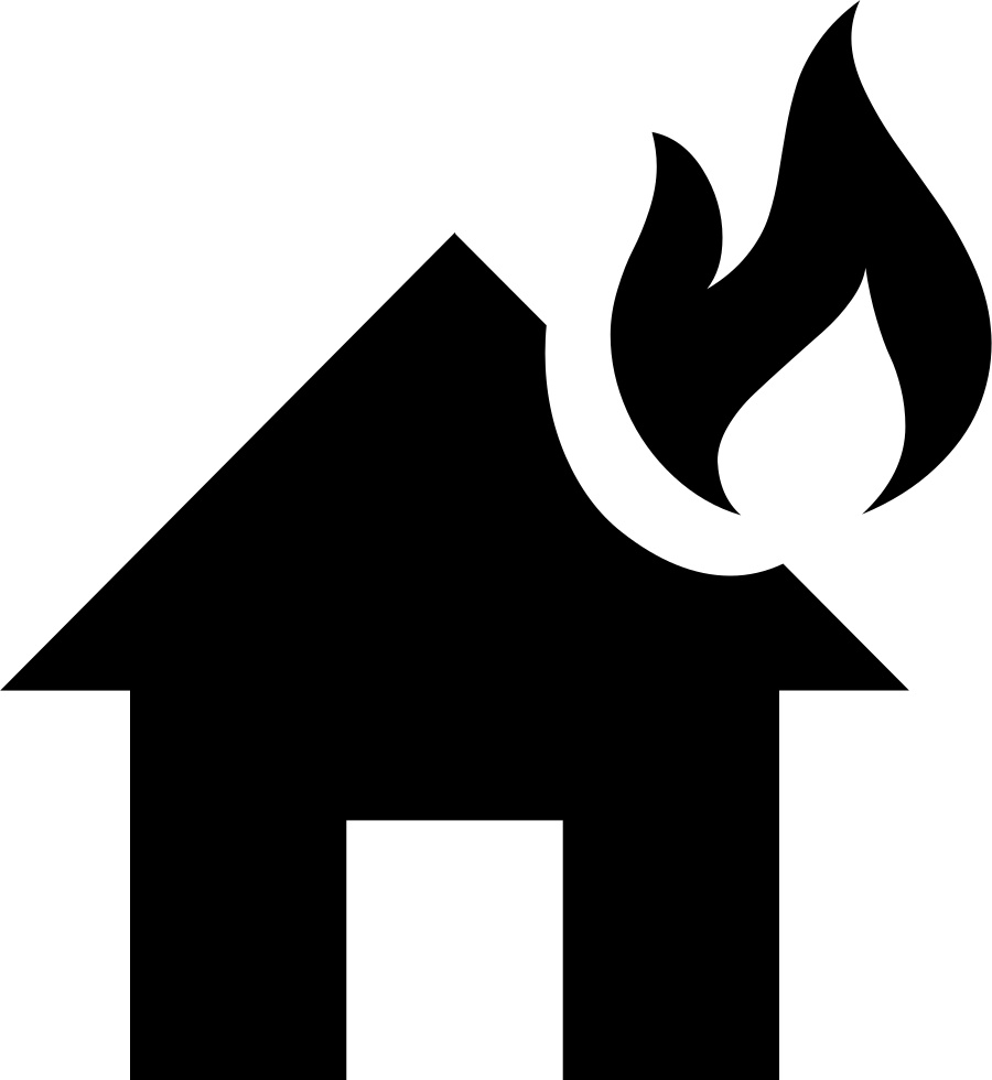 Svg png icon free. Clipart fire house fire