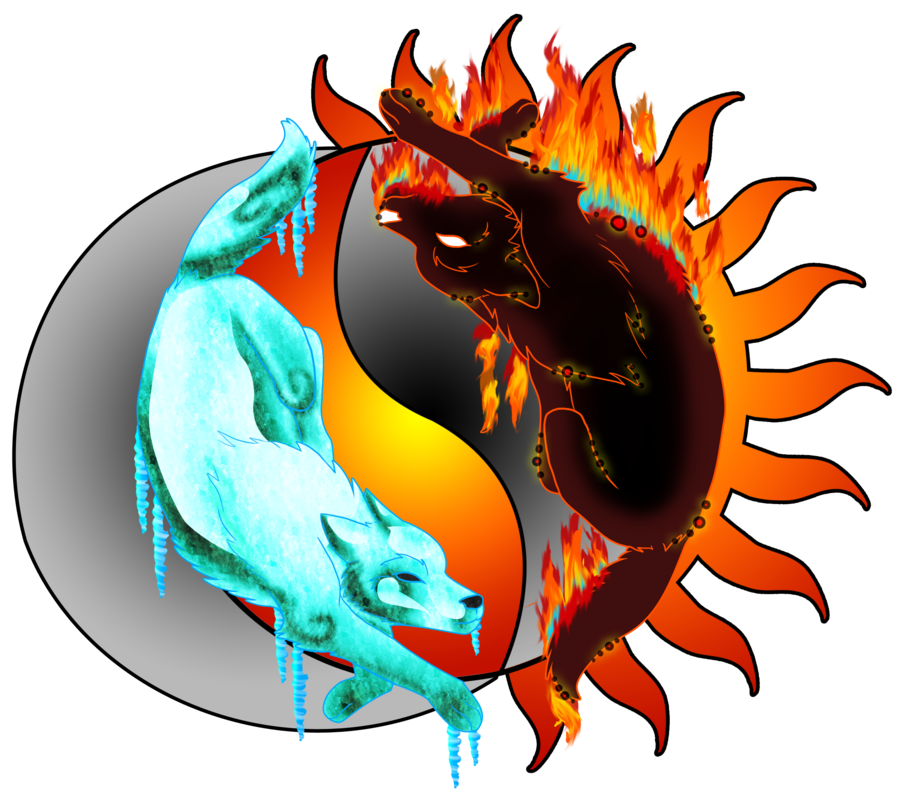 collection of yin. Ice clipart fire
