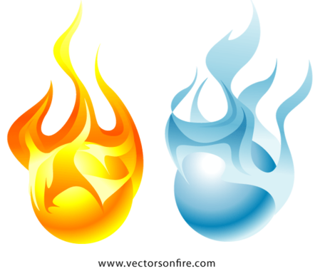 Free and orbss vector. Fire clipart ice